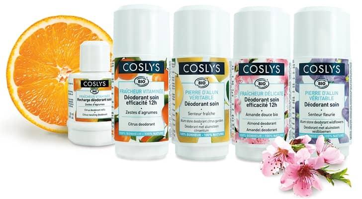 Gamme déodorants Coslys